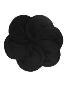 Bio-Stilleinlagen aus Bio-Baumwolle schwarz