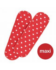 Maxi Einlagen für Maxi Bio-Stoffbinden - Herzen