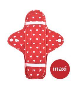 Maxi Bio-Stoffbinde und Einlage - Herzen