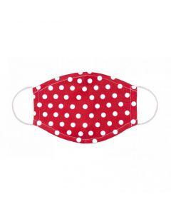 Mund-Nasen-Maske Ellas rot mit weißen Punkten - 2 Stück