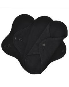Stoffslipeinlagen schwarz aus Bio-Baumwolle 3 Stück